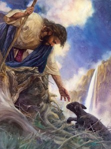 Jesus rescuing lamb