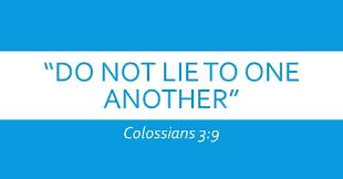Do not Lie