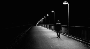 walking alone at night